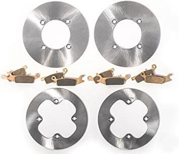 Race Driven Front /& Rear Brake Pads /& RipTide Brake Rotors for Yamaha Grizzly YFM550 YFM700 YFM 550 700