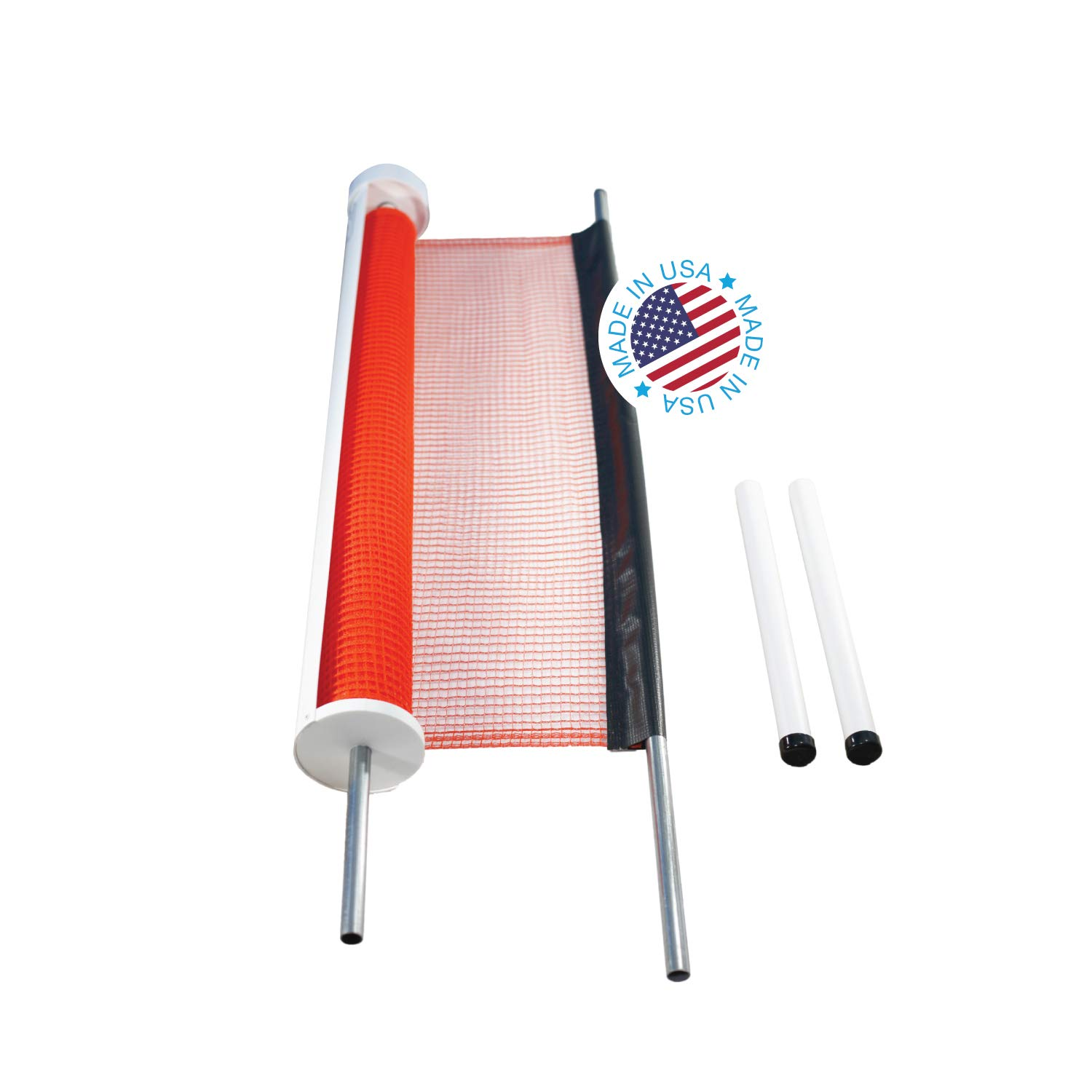 Kidkusion Retractable Driveway Guard, Orange, 25' | Driveway Safety; Outdoor; Barrier; Adjustable by KidKusion