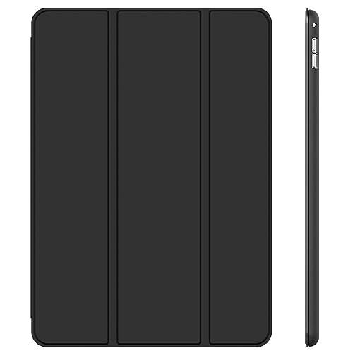JEDirect iPad Pro 12.9 (2015型) ケース レザー 三つ折スタンド オートスリープ機能 スマートカバー (ブラック)