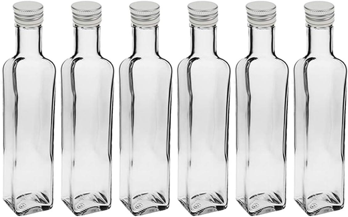 24 x 500 ml leere Glasflaschen Eckig Maraska Likörflaschen 500 ml