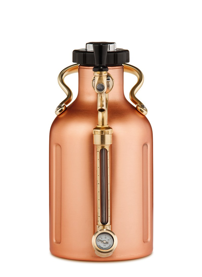 uKeg 64 Pressurized Growler for Craft Beer - Copper by GrowlerWerks (Image #2)