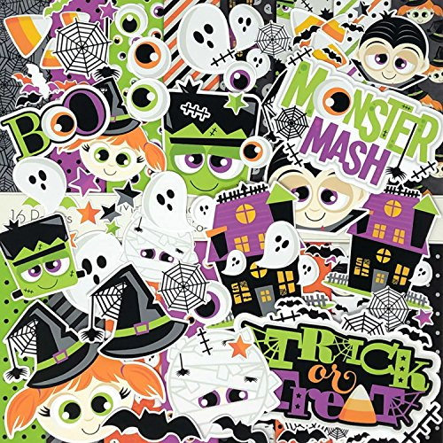 Halloween - Monster Mash - Die Cuts & Paper Set - by Miss Kate Cuttables - 16 Sheets of 12