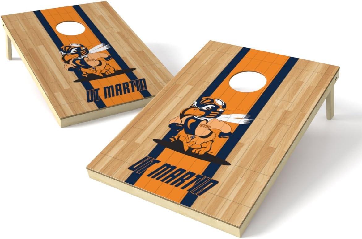 Wild Sports NCAA College Tennessee Martin Skyhawks 2 x 3 Hardwood Cornhole Game Set