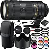 Nikon AF-S 70-200mm f/2.8E FL ED VR Lens - 8PC Accessory Bundle Includes 3PC Filter Kit (UV, CPL, FLD) + 6PC Graduated Color Filter Kit + Dust Blower + Lens Cap Keeper + MORE