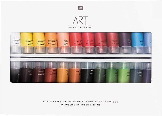 Fluo 6 x 12 ML Rico Design Set Peinture Acrylique