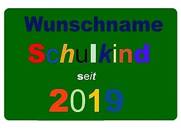Fußmatte Schulkind Seit 2019 Mit Wunschnamen Personalisiert
