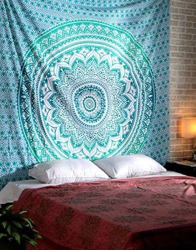 Turquoise Mandala Tapestry Tapestries Bohemian product image
