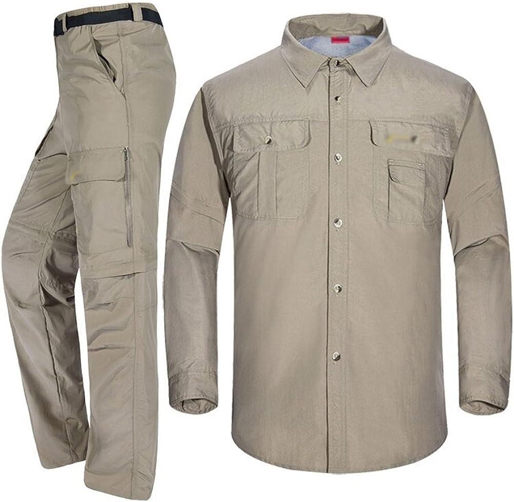 Baymate Hombres Convertibles Secado Rápido Pantalones De Trekking Y Camisa para Deportes Al Aire Libre: Amazon.es: Ropa y accesorios