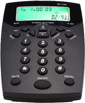 Hakeeta BN200 Centro de Llamadas Servicio al Cliente Operador Caja de Llamadas Teléfono con indicación de luz muda, indicaciones de Voz de Alta definición: Amazon.es: Electrónica