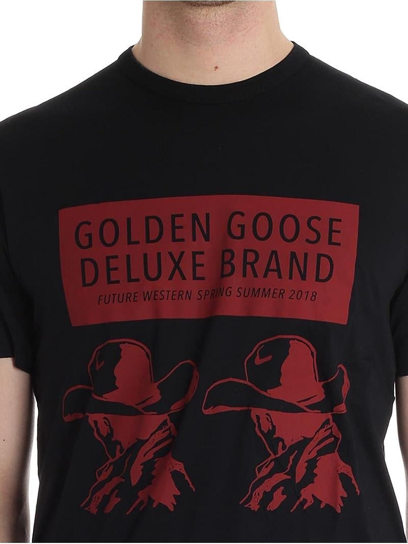 GOLDEN GOOSE HOMME G32MP524A1 NOIR COTON T-SHIRT DRQlmBBg0x