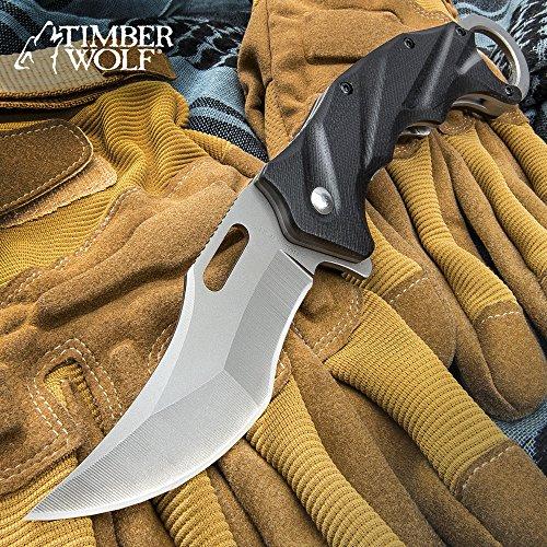 Timber Wolf Tactical Folding Karambit Knife (Timber Folding Tactical Knife)