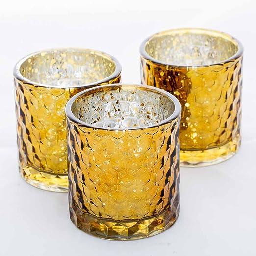 Richland Votive /& Tealight Candle Holder Chunky Honeycomb Glass Set of 6