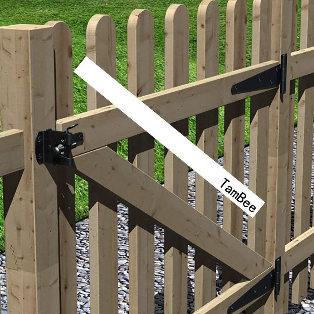 TamBee T-Strap Shed Hinge Gate Strap Heavy Duty Hinge Door Barn Gates Hinges Black Wrought Hardware Iron Rustproof 2, 12inch