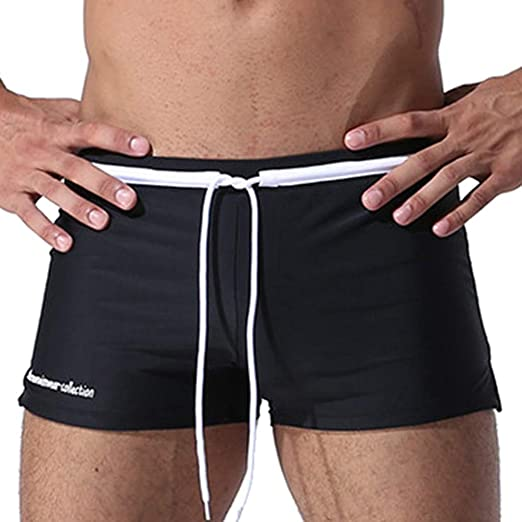 afb88096c6 Corriee Mens Summer Vocation Drawsting Quick Dry Drawstring Beach Shorts  Sexy Boxer Briefs Slim Swim Trunks