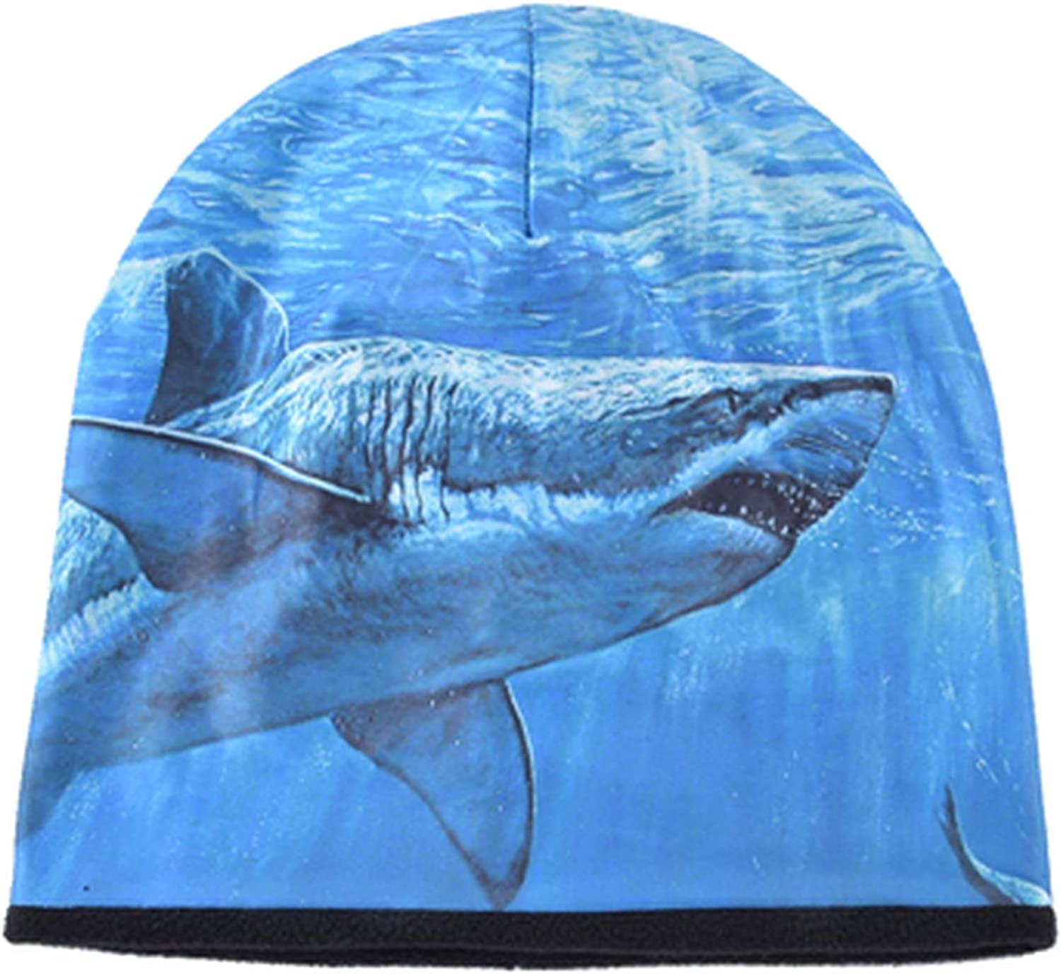 Plus Velvet Keep Warm Winter Beanie Hat Men Women Hip Hop Cap Outdoor Ski Bone Casual Hats 3D Animal Shark