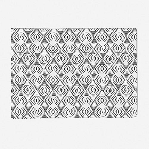 Super Soft Throw Blanket Custom Design Cozy Fleece Blanket/Perfect for Couch Sofa or Bed/59x49 inches/Celtic Decor,Vintage Constant Triple Spiral Celtic Pattern with Rotational Symmetric Lines Boho De
