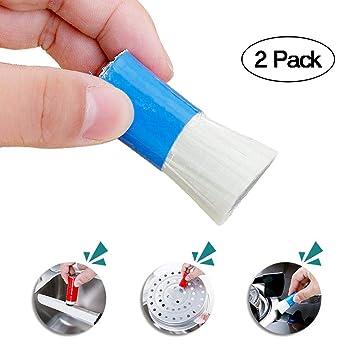 AOLVO Magic - Cepillo de Limpieza de Acero Inoxidable para Limpiar el óxido, pulidor de Metal, 2 Piezas, Microfibra, para Lavar el óxido, Acero ...