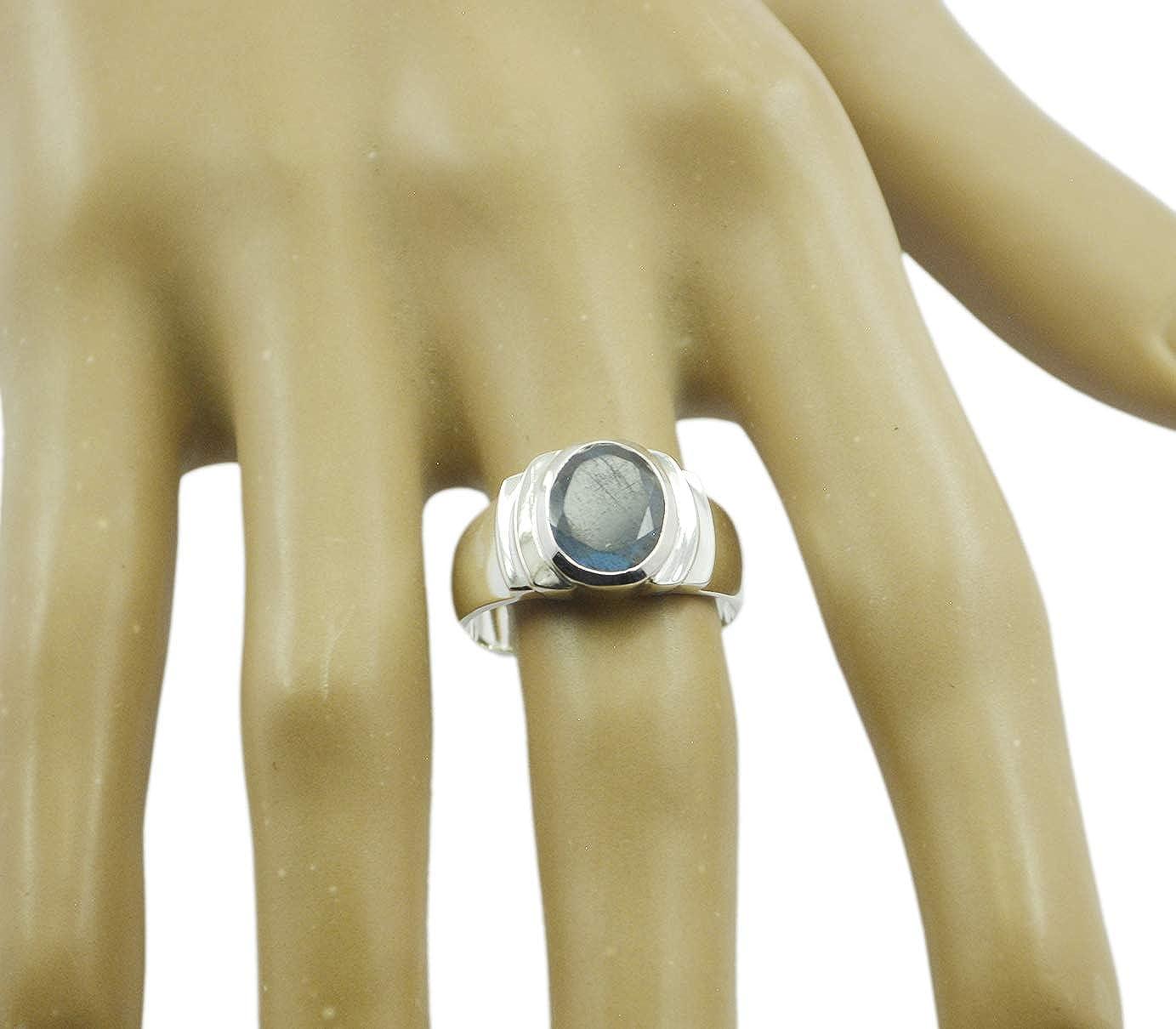 suppiler 925 Sterling Silver Captivating Natural Multi Ring Labradorite Multi Gems Silver Ring