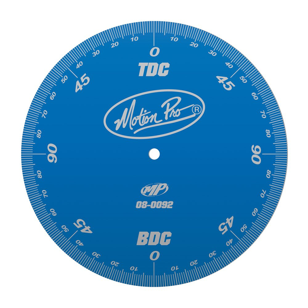 Motion Pro 08-0092 Anodized Blue Degree Wheel