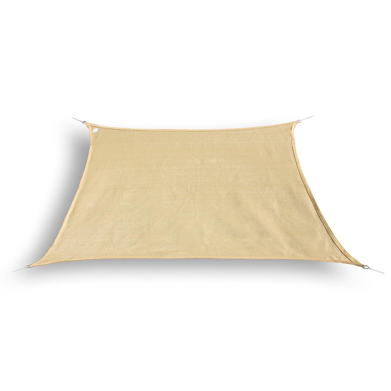 Nxtbuy Sonnensegel - Sonnenschutz für Garten, Balkon und Terrasse - Schattenspender Trapez aus Markengewebe, Farbe:Sand, Größe:4/5 x 4 m