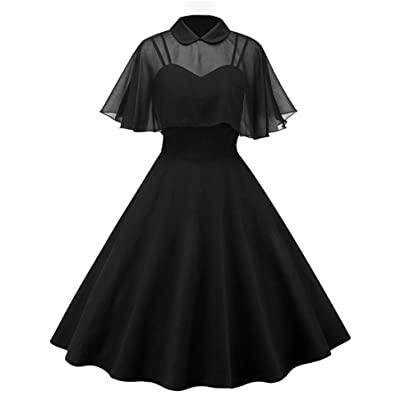 GownTown Women's 1950s Cloak Two-Piece Cocktail Dress: Clothing