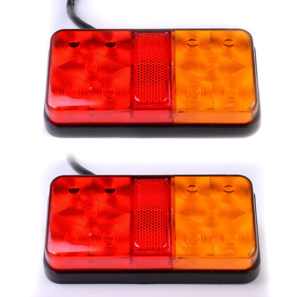 2 x 12V LED Rear Tail Stop Light Indicator Lamp Truck Trailer Lorry Van Caravan