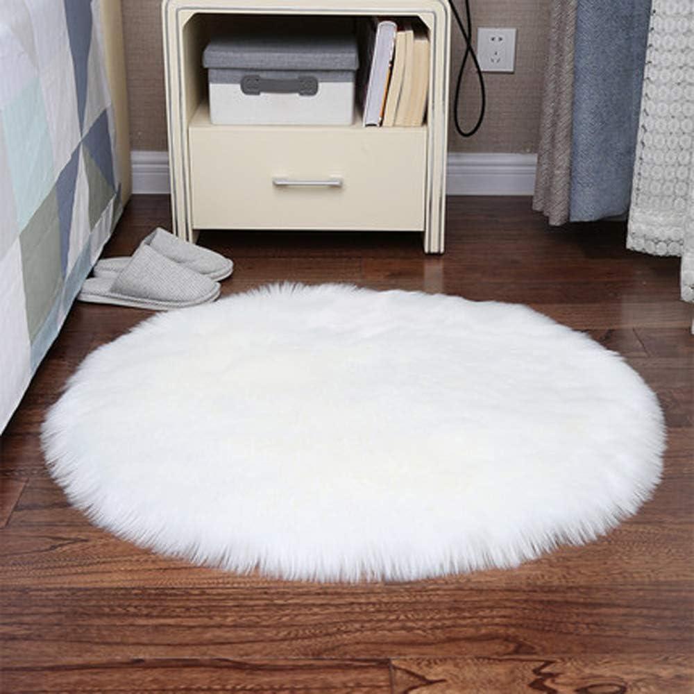 ideal para la guarder/ía dise/ño de lim/ón sobre rayas blancas y negras ligera Orediy para sala de estar o dormitorio para jugar al suelo Alfombra redonda de espuma suave de 92 cm
