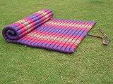 Roll up Thai Mat Fold Out Mattress Meditation Cushion 100% Kapok (Pink)