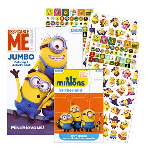 Despicable Me Minions Coloring Book with Stickers ~ Over 295 Stickers! ()