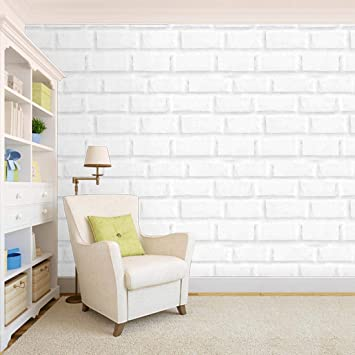100yellow Pvc Vinyl Self Adhesive Bricks Design Wallpaper 10 66 X 12 Ft Amazon In Home Improvement