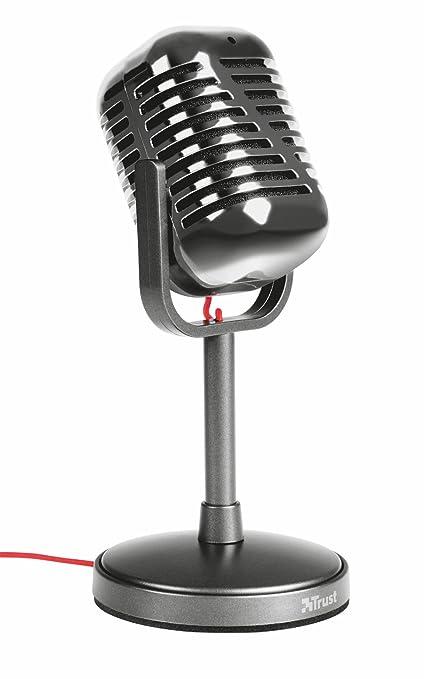 64 opinioni per Trust Elvii Microfono da Tavolo, Grigio