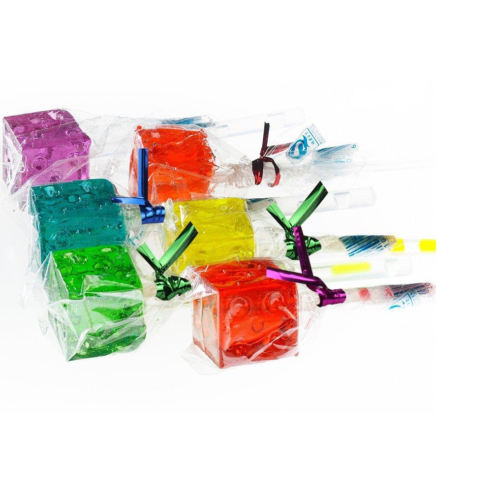 600 Pcs BPA-Free Lollipop Set Including 200 pack Lollipop treat Sticks,200 Pieces of Lollipop Parcel Bags and 200 Pieces of Wire Lines(8 Different Colors) by HaiMay (Image #4)