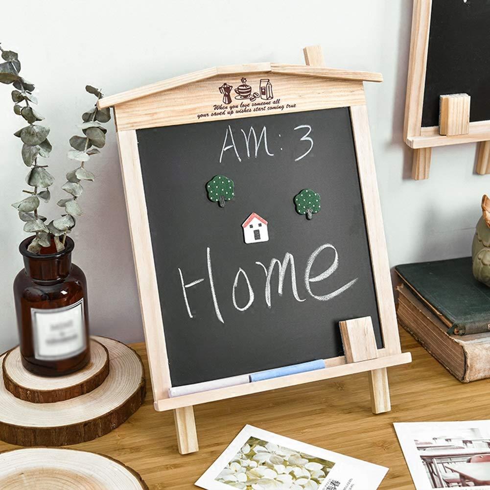 LIANGJUN Message Board Chalkboards Signs Solid Wood Hanging Bracket Coffee Shop Bar Sketchpad (Color : A, Size : 27x35cm) by LIANGJUN-lyj (Image #2)