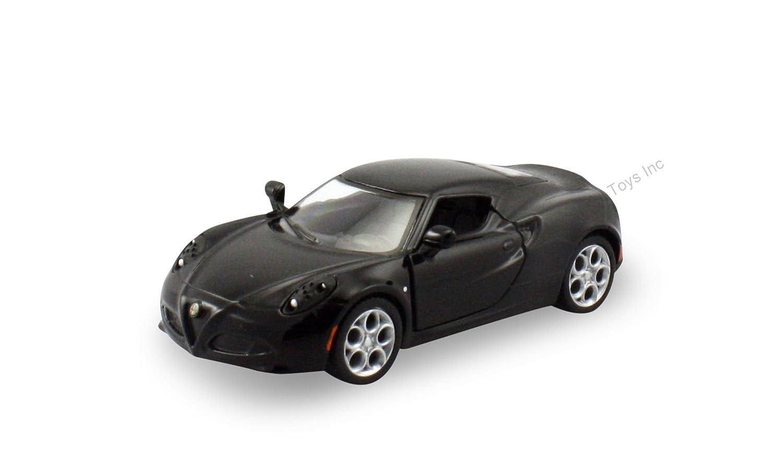 "Kinsmart 2013 Alfa Romeo 4C 1:32 scale 5"" diecast model car Black K110"