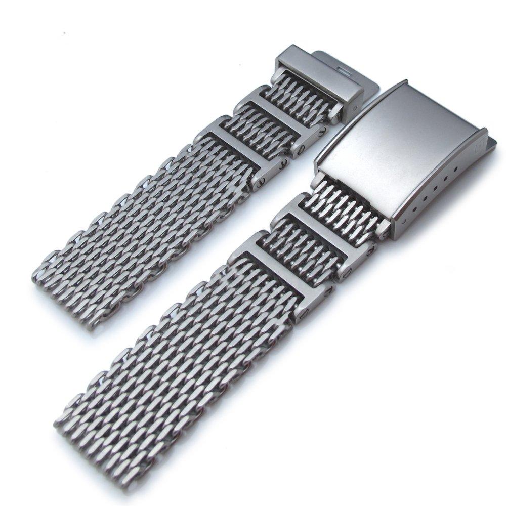20mm Flexi Ploprof 316L Reform Mesh Watch Band, Milanese, Seatbelt ...
