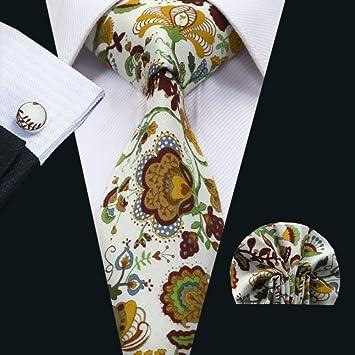 WOXHY Corbata de los Hombres Fa-1312 Corbatas de algodón Coloridas ...