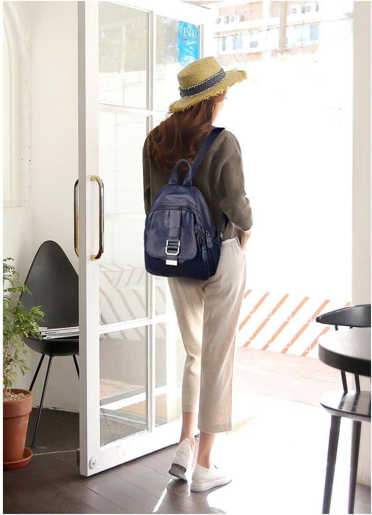 PU Leather Black//Blue//Red//Bronze Muziwenju Girls Multi-Purpose Backpack for Daily Travel//Travel//School//Work//Fashion//Leisure Simple Fashion Latest Models