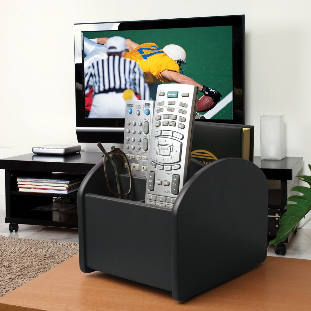 Incroyable Amazon.com: Launch Innovative Products Ralph TV Remote Control Spinning  Caddy   Revolving Wood Valet Organizer For Television Remotes   Black: Home  U0026 ...