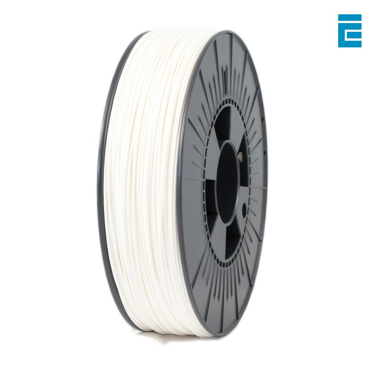 ICE FILAMENTS ICEFIL1PLA005 PLA Filament, 1.75 mm, 0.75 kg, Wondrous White DF