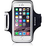 Shocksock Custom Made Reflective Sports Armband with Dual Arm-Size Slots and Key Pocket for Apple iPhone 6 - Black
