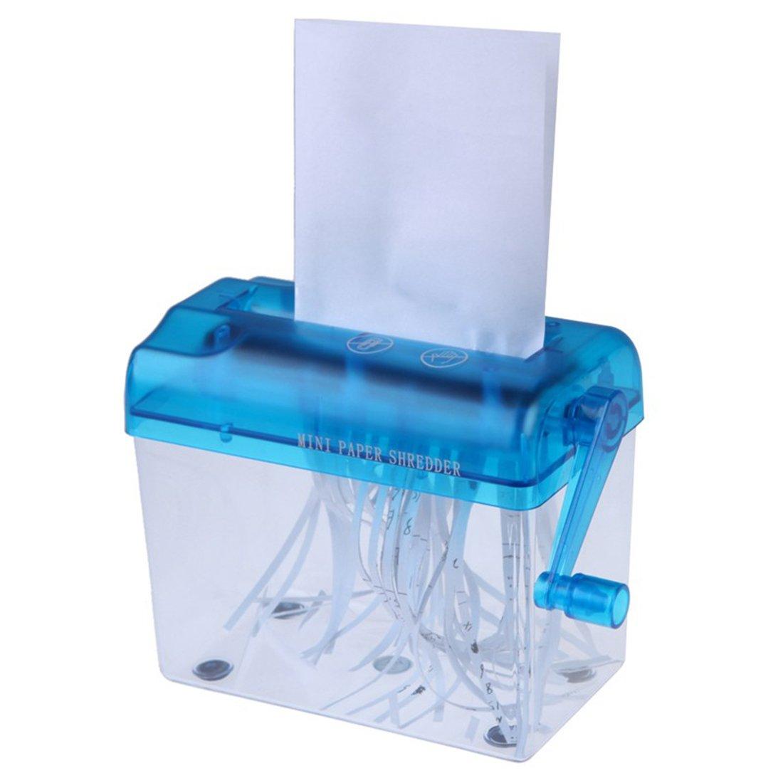 Mini Desktop Manual Papierschredder Handausschnitt f¨ ¹ r zuf?llige Papierfarbe qianzhi
