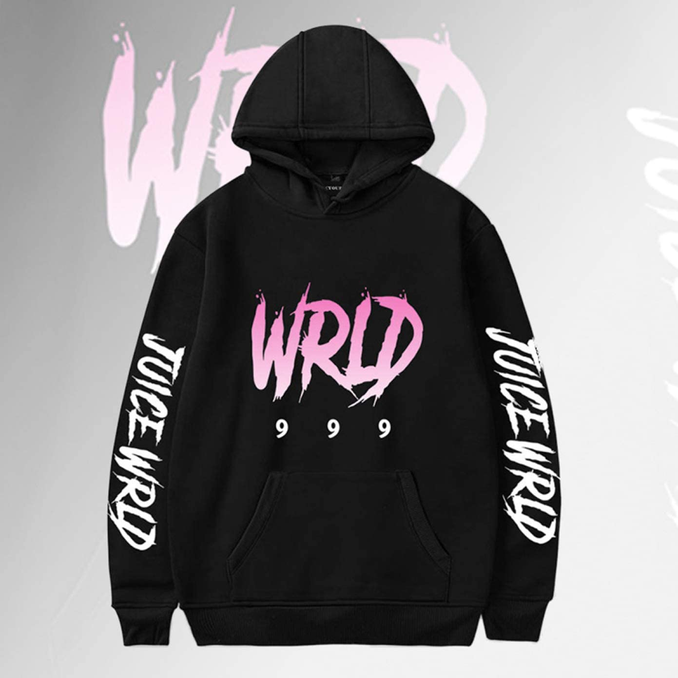 Angshi Useful New Juice Wrld Printed Pullover Sweatshirts Long Sleeve Letter Printing Casual Hoodie Tops