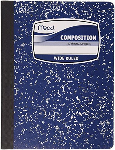 Mead Composition Book, 100 Sheets per Book, Fashion, Assorted Colors - Color Selected May Vary, 1 Book (9918) Selected Sale Colors