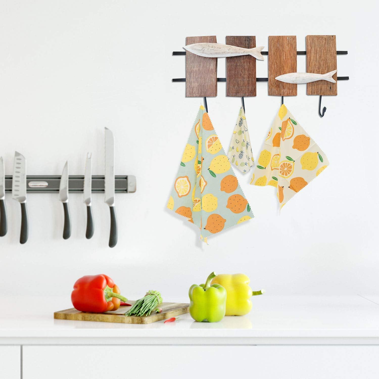 Vegetales Y Pan paquete de 3 Paquete de envoltorios de alimentos reutilizables ecol/ógicos Frutas Envoltorios para alimentos de cera de abejas Almacenador de alimentos de pl/ástico para Quesos