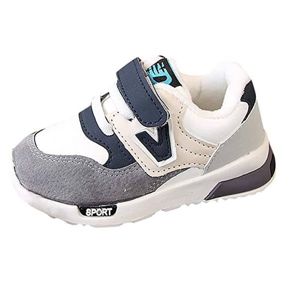 YanHoo Zapatos para niños y niñas además de algodón Engrosado otoño e Invierno Calzado Deportivo Transpirable Zapatillas Antideslizantes Zapatillas de ...
