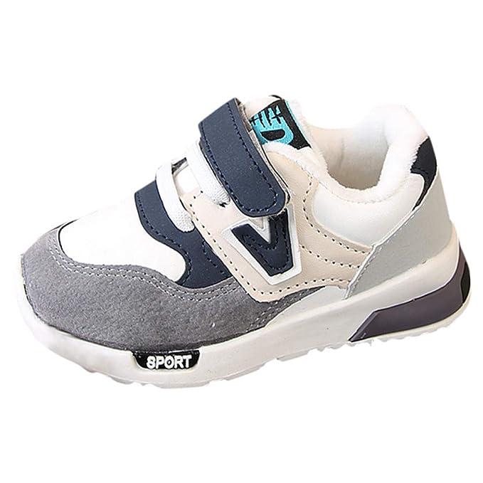 660d2c20554 YanHoo Zapatos para niños y niñas además de algodón Engrosado otoño e  Invierno Calzado Deportivo Transpirable Zapatillas Antideslizantes  Zapatillas de ...