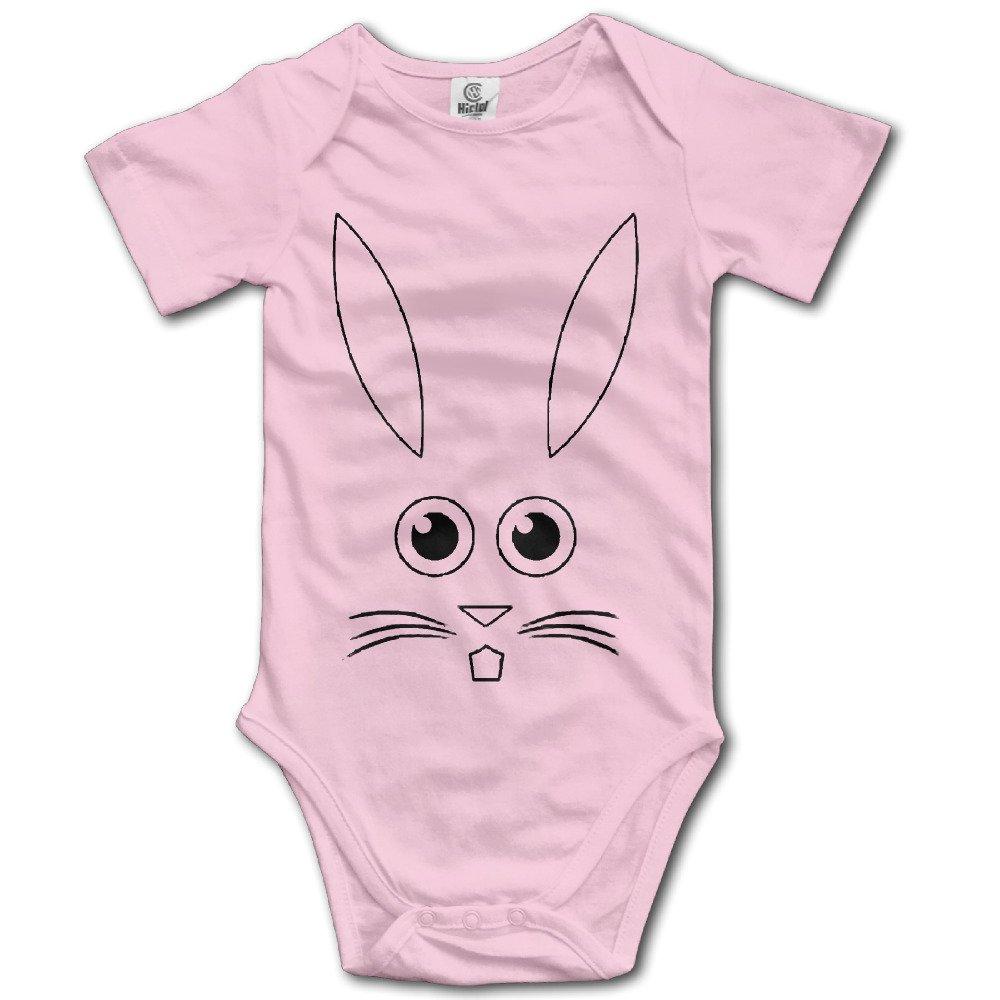 Amazon.com: Cara de conejo de Pascua lindo bebé Onesie Body ...
