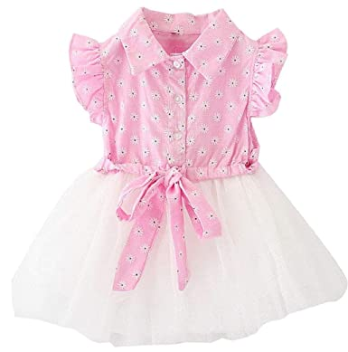 faac006deee1 Boomboom Baby'S Clothing Girls Denim Floral Print Sleeveless Skirt ...
