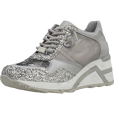 Cetti Damen Sneaker C1143 Stone Silber 479209: