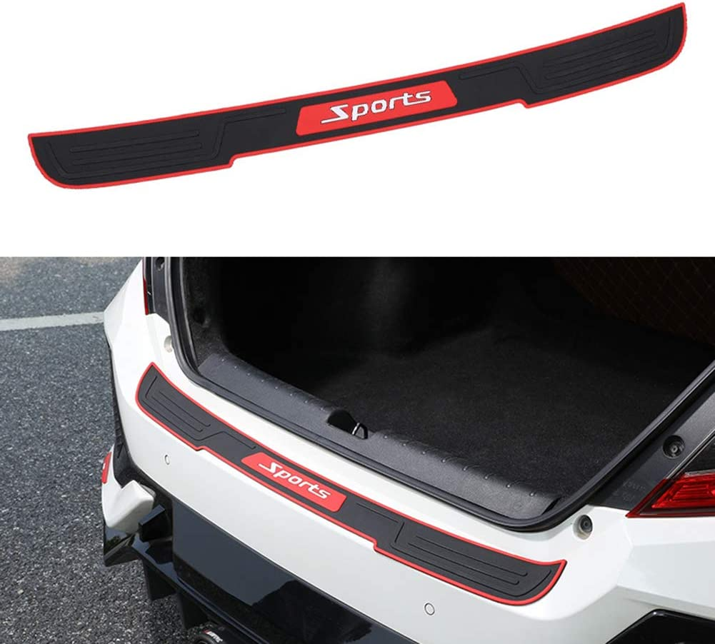 "35/"" Black SUV Rear Trunk Sill Plate Bumper Guard Protector Rubber Pad Cover  NLß"